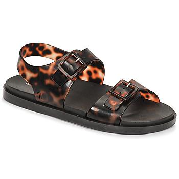 Topánky Ženy Sandále Melissa MELISSA WIDE SANDAL AD Hnedá / Čierna