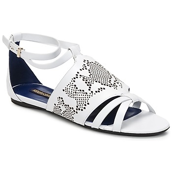 Topánky Ženy Sandále Roberto Cavalli TPS918 Biela