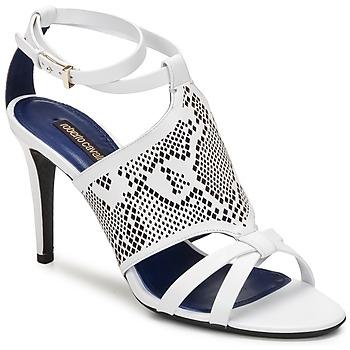 Topánky Ženy Sandále Roberto Cavalli TPS016 Biela