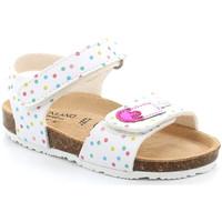 Topánky Dievčatá Sandále Grunland SB1719 Biely