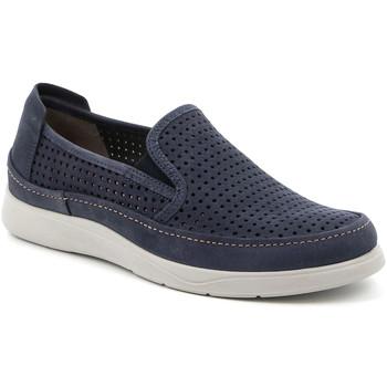 Topánky Muži Slip-on Grunland SC5196 Modrá