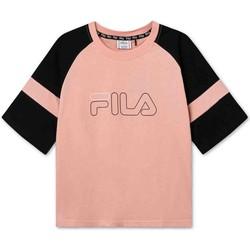 Oblečenie Deti Tričká s krátkym rukávom Fila 683330 Ružová