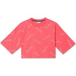 Oblečenie Dievčatá Tričká s krátkym rukávom Fila 683349 Ružová