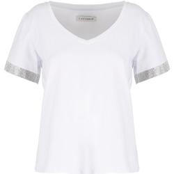 Oblečenie Ženy Tričká s krátkym rukávom Café Noir JT6490 Biely