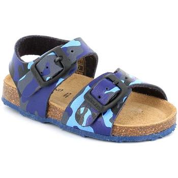 Topánky Deti Sandále Grunland SB0383 Modrá