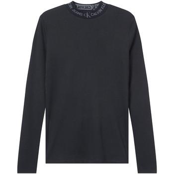 Oblečenie Ženy Tričká s dlhým rukávom Calvin Klein Jeans J20J215228 čierna