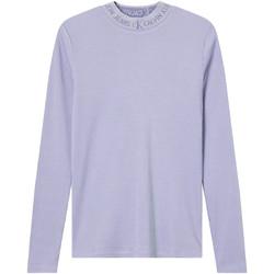 Oblečenie Ženy Tričká s dlhým rukávom Calvin Klein Jeans J20J215228 Fialový