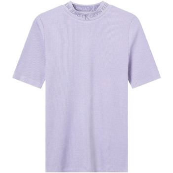 Oblečenie Ženy Tričká s krátkym rukávom Calvin Klein Jeans J20J215230 Fialový