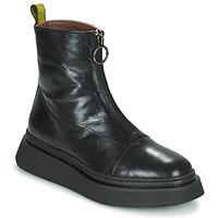 Topánky Ženy Polokozačky Mjus BASE ZIP Čierna