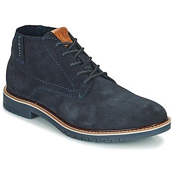 Topánky Muži Polokozačky Bugatti PLUTONO Námornícka modrá