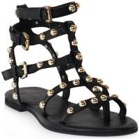 Topánky Ženy Sandále Mosaic 1600 VITELLO NERO Nero