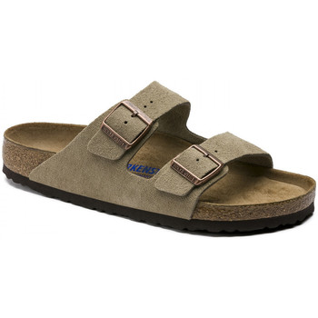 Topánky Muži Šľapky Birkenstock Arizona sfb cuir suede Hnedá