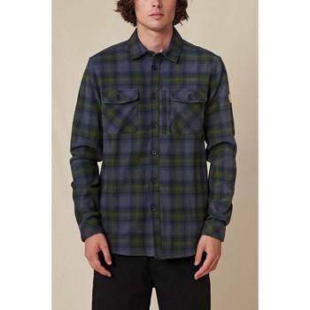 Oblečenie Muži Košele s dlhým rukávom Globe Chemise  Wanderer Shacket bleu/vert