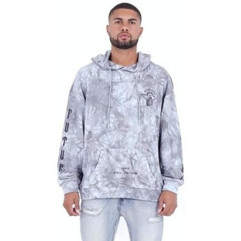 Oblečenie Muži Mikiny Sixth June Sweatshirt  Custom Tie Dye gris anthracite/rose hibiscus