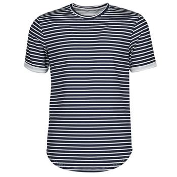 Oblečenie Muži Tričká s krátkym rukávom Yurban ORICO Námornícka modrá / Biela