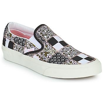 Topánky Slip-on Vans SLIP ON Čierna / Biela / Ružová