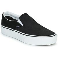 Topánky Ženy Slip-on Vans CLASSIC SLIP-ON PLATFORM Čierna / Biela