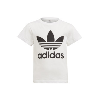 Oblečenie Deti Tričká s krátkym rukávom adidas Originals FLORE Biela