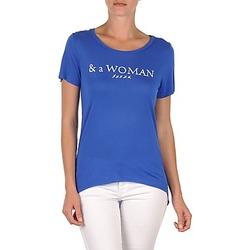 Oblečenie Ženy Tričká s krátkym rukávom School Rag TEMMY WOMAN Modrá