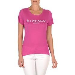 Oblečenie Ženy Tričká s krátkym rukávom School Rag TEMMY WOMAN Fialová