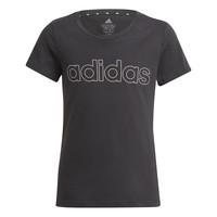 Oblečenie Dievčatá Tričká s krátkym rukávom adidas Performance PLAKAT Čierna