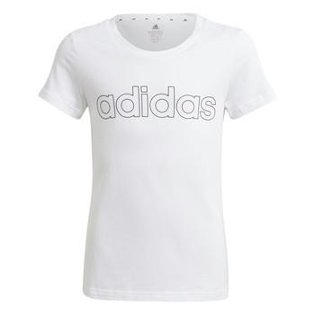 Oblečenie Dievčatá Tričká s krátkym rukávom adidas Performance HOLLIA Biela
