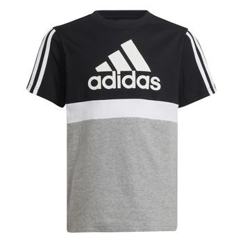 Oblečenie Chlapci Tričká s krátkym rukávom adidas Performance MOULITA Šedá / Čierna