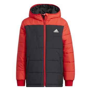 Oblečenie Deti Vyteplené bundy adidas Performance RACHELA Červená / Čierna