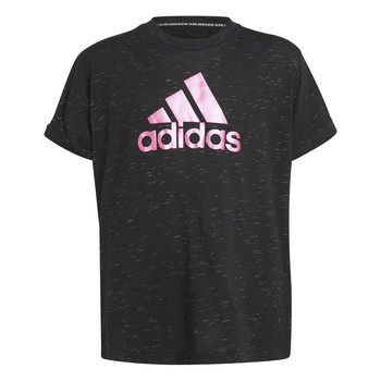 Oblečenie Dievčatá Tričká s krátkym rukávom adidas Performance MONICA Čierna