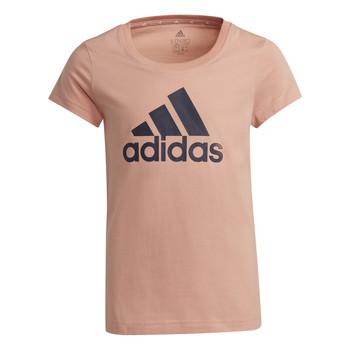Oblečenie Dievčatá Tričká s krátkym rukávom adidas Performance ALBERIC Ružová