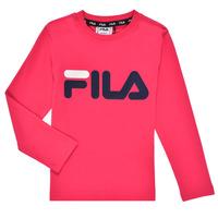 Oblečenie Dievčatá Tričká s dlhým rukávom Fila ESPIN Ružová