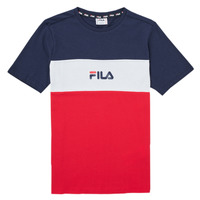 Oblečenie Dievčatá Tričká s krátkym rukávom Fila TEKANI Červená / Námornícka modrá