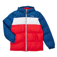 Oblečenie Chlapci Vyteplené bundy Fila BELOMA Červená / Námornícka modrá