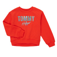 Oblečenie Dievčatá Mikiny Tommy Hilfiger KOMELA Červená