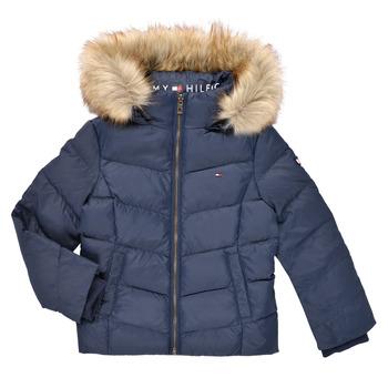 Oblečenie Dievčatá Vyteplené bundy Tommy Hilfiger RESTRI Námornícka modrá
