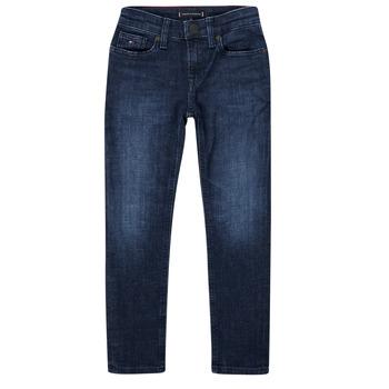 Oblečenie Chlapci Rifle Slim  Tommy Hilfiger ARMAND Modrá