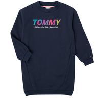 Oblečenie Dievčatá Krátke šaty Tommy Hilfiger BELISTA Námornícka modrá