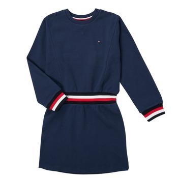 Oblečenie Dievčatá Krátke šaty Tommy Hilfiger ARNO Námornícka modrá