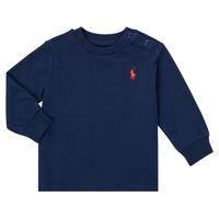 Oblečenie Chlapci Tričká s dlhým rukávom Polo Ralph Lauren FADILA Námornícka modrá