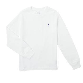 Oblečenie Chlapci Tričká s dlhým rukávom Polo Ralph Lauren KEMILO Biela