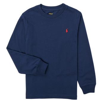 Oblečenie Chlapci Tričká s dlhým rukávom Polo Ralph Lauren KEMILO Námornícka modrá
