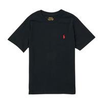 Oblečenie Chlapci Tričká s krátkym rukávom Polo Ralph Lauren FANNY Čierna