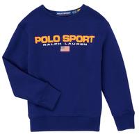 Oblečenie Chlapci Mikiny Polo Ralph Lauren SENINA Námornícka modrá