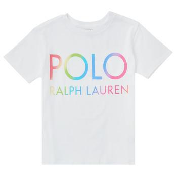 Oblečenie Dievčatá Tričká s krátkym rukávom Polo Ralph Lauren FERILO Biela