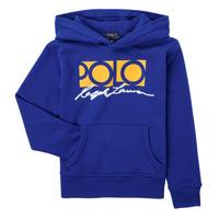 Oblečenie Chlapci Mikiny Polo Ralph Lauren SILENA Námornícka modrá