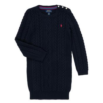 Oblečenie Dievčatá Krátke šaty Polo Ralph Lauren RURBE Námornícka modrá