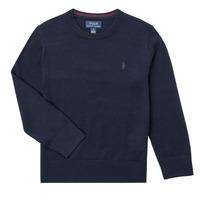 Oblečenie Chlapci Svetre Polo Ralph Lauren DENILA Námornícka modrá