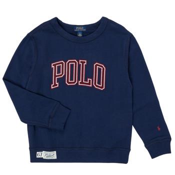 Oblečenie Chlapci Mikiny Polo Ralph Lauren KAMILLAR Námornícka modrá