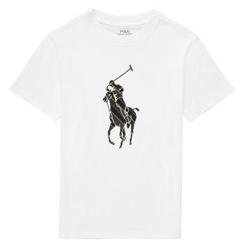Oblečenie Chlapci Tričká s krátkym rukávom Polo Ralph Lauren GUILIA Biela