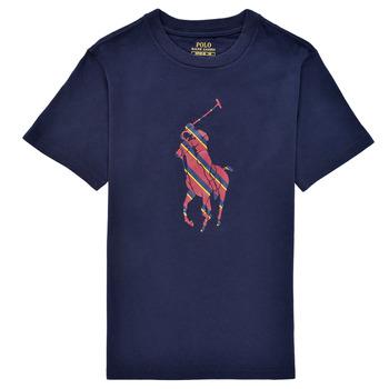 Oblečenie Chlapci Tričká s krátkym rukávom Polo Ralph Lauren GUILIA Námornícka modrá